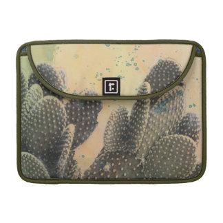Éclaboussure verte du cactus   de désert poches pour macbook pro