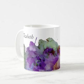 Éclaboussure verte et pourpre personnalisée mug