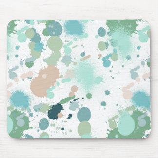 Éclaboussures de peinture d'aquarelle tapis de souris