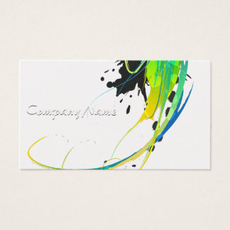 Éclaboussures fraîches abstraites de peinture à cartes de visite