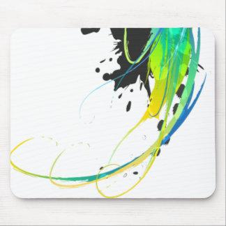 Éclaboussures fraîches abstraites de peinture à l' tapis de souris