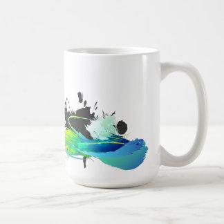 Éclaboussures fraîches abstraites de peinture à mug
