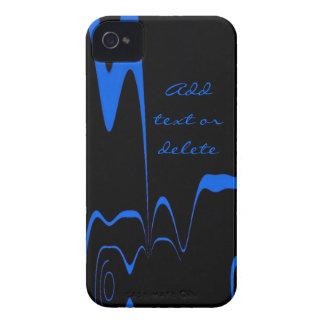 Éclair de bleu de caisse de Blackberry Coques iPhone 4 Case-Mate