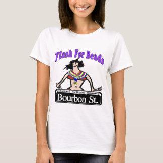 Éclair de mardi gras pour le St de Bourbon de T-shirt