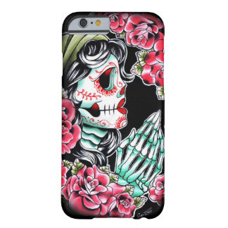 Éclair de tatouage de crâne de Dia De Los Muertos Coque iPhone 6 Barely There