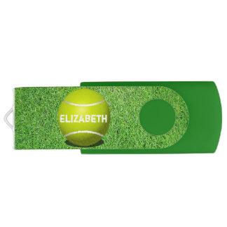 Éclair fait sur commande d'USB de balle de tennis Clé USB 3.0 Swivel