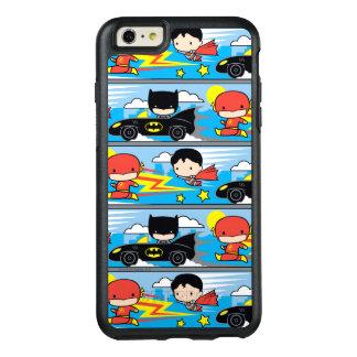 Éclair, Superman, et Batman de Chibi emballant le Coque OtterBox iPhone 6 Et 6s Plus