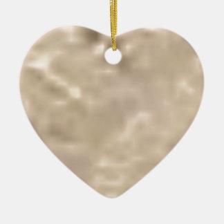 éclat blanc ornement cœur en céramique