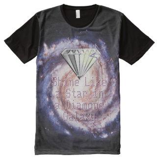 Éclat comme une étoile dans une galaxie de diamant t-shirt tout imprimé