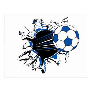 Éclat de ballon de football carte postale