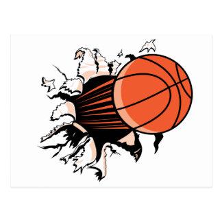 Éclat de basket-ball carte postale