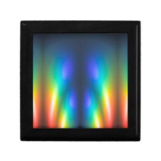 Éclat de couleur petite boîte à bijoux carrée