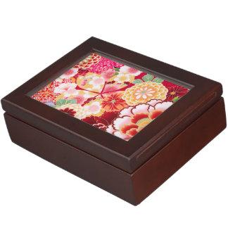Éclat floral rouge de Falln Boîte À Souvenirs