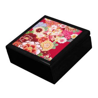 Éclat floral rouge de Falln Grande Boîte À Bijoux Carrée