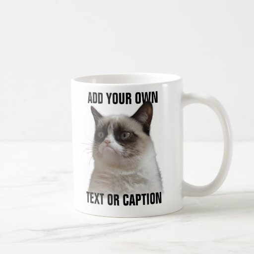 Éclat grincheux de chat - ajoutez votre propre tex tasse à café