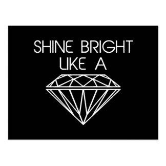 Éclat lumineux comme un diamant cartes postales