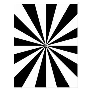 Éclat noir et blanc d'étoile cartes postales