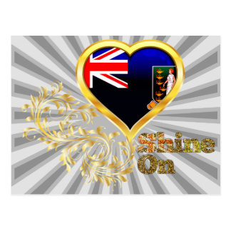 Éclat sur les Îles Vierges britanniques Carte Postale
