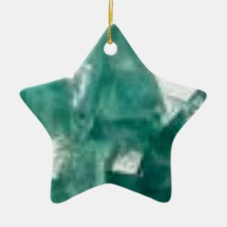 éclat vert des bijoux ornement étoile en céramique