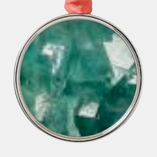 éclat vert des bijoux ornement rond argenté