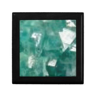 éclat vert des bijoux petite boîte à bijoux carrée