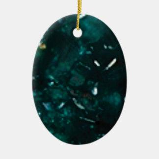 éclat vert-foncé ornement ovale en céramique