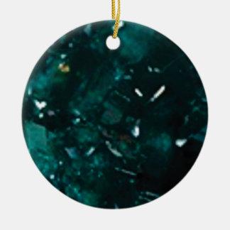 éclat vert-foncé ornement rond en céramique