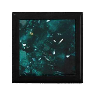 éclat vert-foncé petite boîte à bijoux carrée