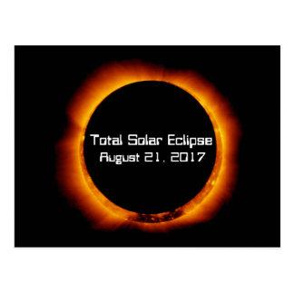 Éclipse 2017 solaire totale carte postale
