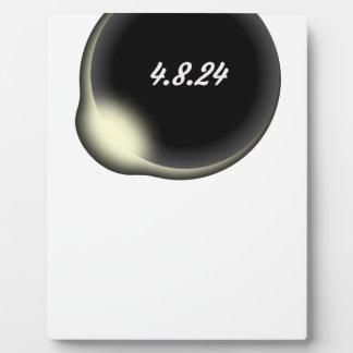 Éclipse de totalité plaque photo