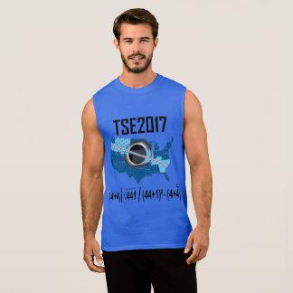 Éclipse-nouvelle manière 2017 solaire totale t-shirt sans manches