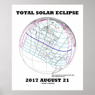 Éclipse solaire 2017 21 août total Amérique du Poster