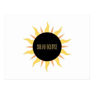 Éclipse solaire cartes postales