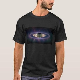 Éclipse solaire de Saturn de vaisseau spatial de T-shirt
