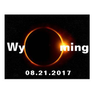 Éclipse solaire du Wyoming Carte Postale