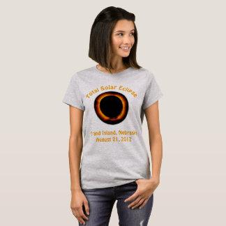 Éclipse solaire totale (île grande, Nébraska) T-shirt