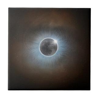 Éclipse solaire totale petit carreau carré