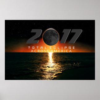 Éclipse totale à travers l'affiche de l'Amérique Poster