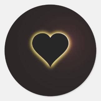 Éclipse totale de ciel nocturne de Valentines du Sticker Rond