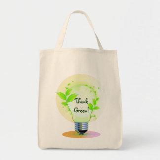Eco pensent le vert sac en toile
