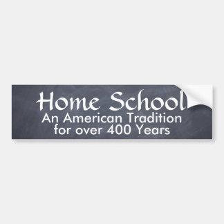 École à la maison autocollant pour voiture