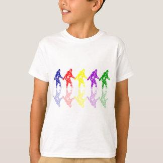 ÉCOLE d'ART SQUATCH - logo coloré de Bigfoot T-shirt