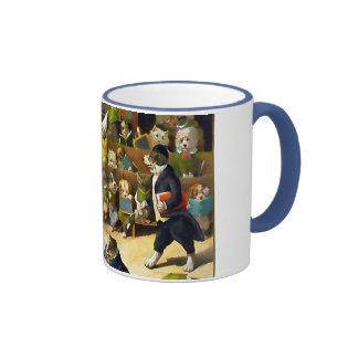École de chien par Louis Wain Mug Ringer