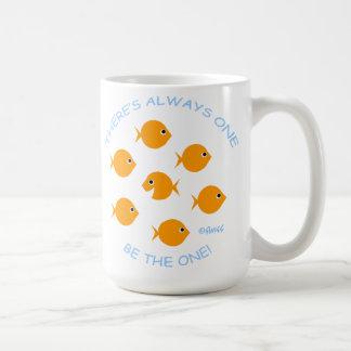 École de devise inspirée de professeur de poisson mug blanc