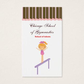 École de gymnastique cartes de visite