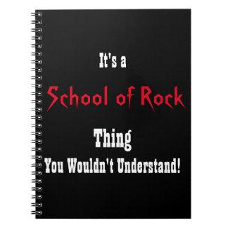 École de journal de roche