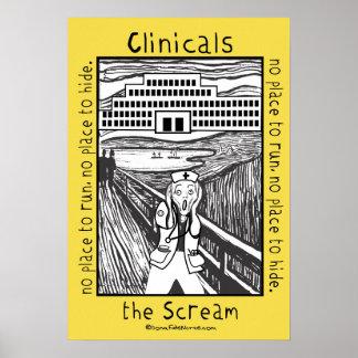 École d'infirmières Clinicals - l'affiche de cri Poster
