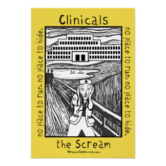 École d'infirmières Clinicals - l'affiche de cri Posters