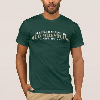 École d'Oxberger de T-shirt de lutte de boue