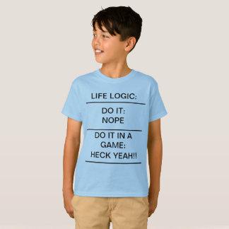 École drôle de T-shirt d'enfants de LOGIQUE de la